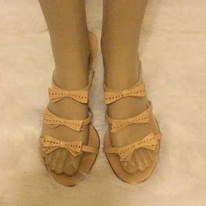 Bone Bow Dressy Heel Slides